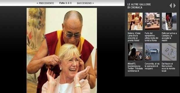 Betty William con il Daila Lama