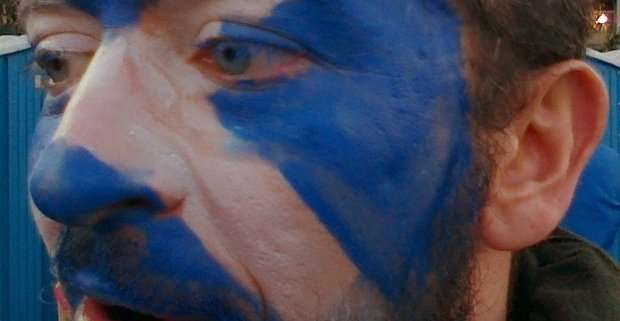 Un tifoso scozzese