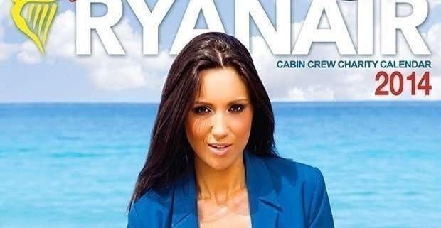 Calendario Ryanair 2014: le sexy hostess