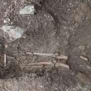 Lo scheletro scoperto a Collooney