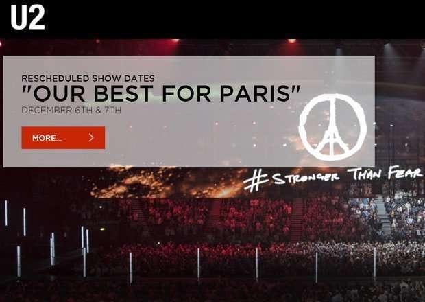 U2 al Bercy Arena di Parigi