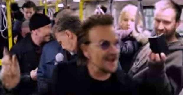Metropolitana di Berlino: il live improvvisato degli U2