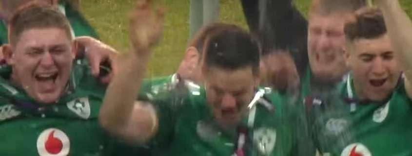 La premiazione dell'Irlanda